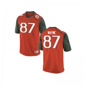 Reggie Wayne Miami Hurricanes Official Mens Game Jerseys - Orange_Green
