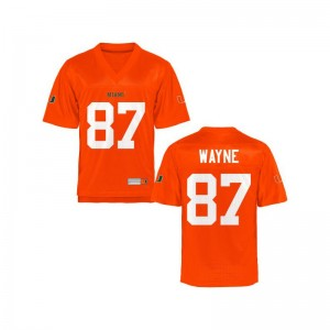 Reggie Wayne University of Miami NCAA Men Game Jerseys - Orange