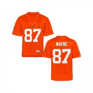 Reggie Wayne Miami NCAA Kids Game Jersey - Orange