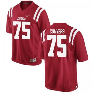 Robert Conyers Rebels Official Men Game Jerseys - Red