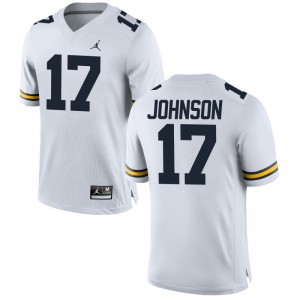 Ron Johnson Michigan NCAA Mens Game Jersey - Jordan White