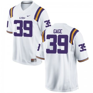 Russell Gage LSU Official Mens Game Jersey - White