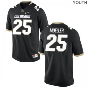 Ryan Moeller Buffaloes Player Youth Game Jersey - Black