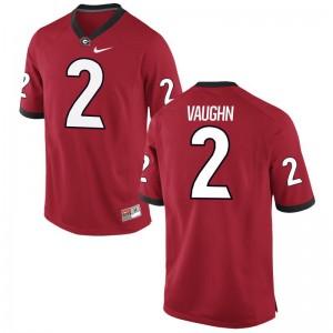 Sam Vaughn Georgia NCAA Mens Game Jersey - Red