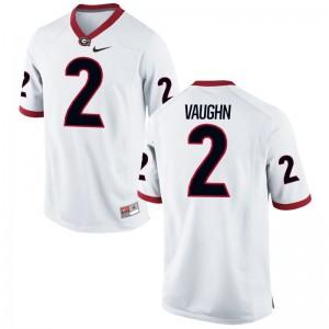 Sam Vaughn Georgia Bulldogs Player Men Game Jersey - White