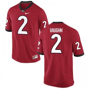 Sam Vaughn Georgia Official Youth(Kids) Limited Jersey - Red