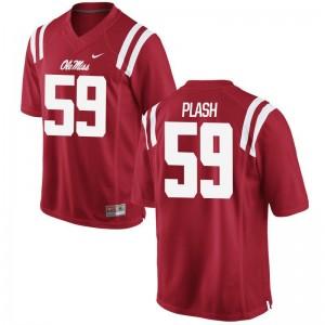 Samuel Plash Ole Miss Football Mens Game Jerseys - Red