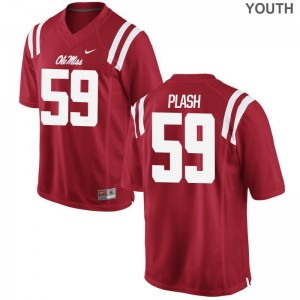 Samuel Plash Ole Miss College Youth(Kids) Game Jerseys - Red