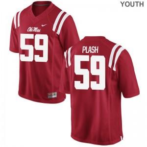 Samuel Plash University of Mississippi Player Kids Limited Jersey - Red