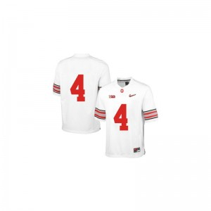 Santonio Holmes Ohio State University Youth Game Jersey - White Diamond Quest Patch