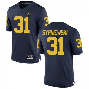 Scott Sypniewski University of Michigan NCAA Mens Game Jerseys - Jordan Navy