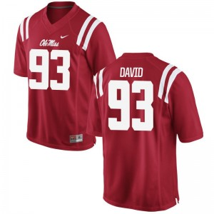 Sincere David Ole Miss Player Mens Limited Jersey - Red