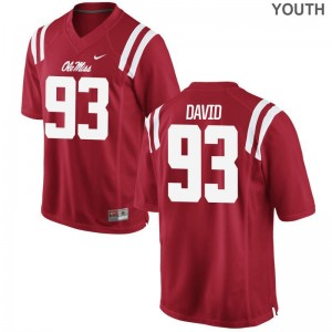 Sincere David Ole Miss Rebels High School Youth(Kids) Game Jerseys - Red