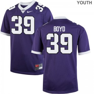Stacy Boyd TCU Horned Frogs NCAA Youth Game Jerseys - Purple
