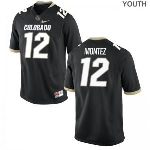 Steven Montez University of Colorado NCAA Youth Limited Jerseys - Black