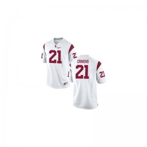 Su'a Cravens Trojans Football Mens Game Jersey - White