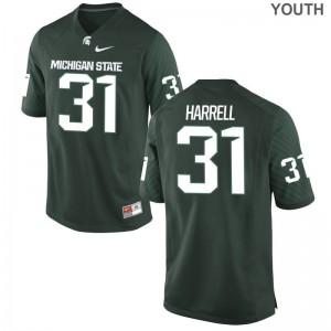 T.J. Harrell MSU NCAA Youth(Kids) Game Jersey - Green