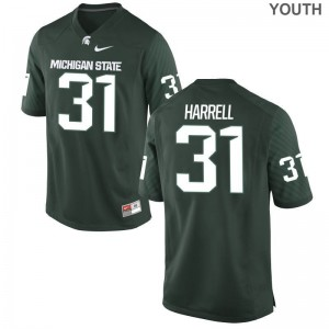 T.J. Harrell MSU Player Kids Limited Jersey - Green
