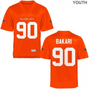 Taaj Bakari OSU Cowboys High School Kids Game Jersey - Orange