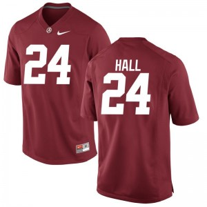 Terrell Hall University of Alabama Official For Men Limited Jerseys - Red