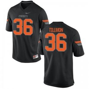Terry Tillmon OK State College Men Game Jersey - Black