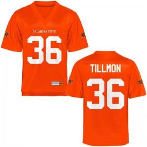 Terry Tillmon Oklahoma State Cowboys NCAA Mens Game Jerseys - Orange