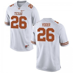 Tim Yoder Longhorns Football Mens Game Jerseys - White