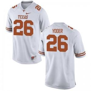 Tim Yoder University of Texas Alumni For Men Limited Jerseys - White