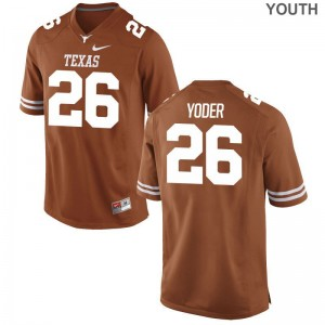 Tim Yoder Longhorns Official Youth Game Jerseys - Orange