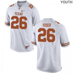 Tim Yoder Texas Longhorns NCAA Youth Game Jersey - White