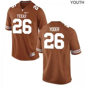 Tim Yoder University of Texas University Youth(Kids) Limited Jersey - Orange