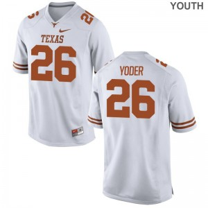Tim Yoder Longhorns College Youth(Kids) Limited Jerseys - White