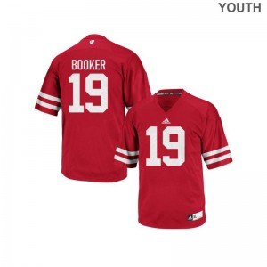 Titus Booker Wisconsin College Youth(Kids) Authentic Jersey - Red