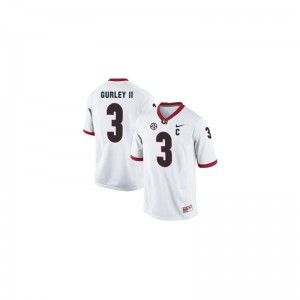 Todd Gurley Georgia College Men Game Jersey - White
