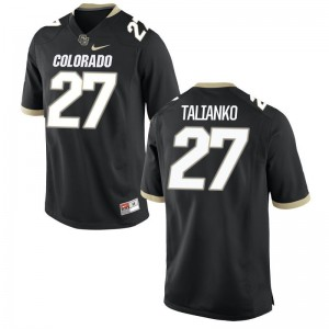 Travis Talianko Colorado Buffaloes Official For Kids Game Jersey - Black