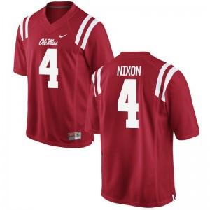 Tre Nixon Ole Miss Rebels Football Men Game Jerseys - Red