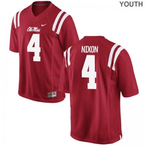 Tre Nixon University of Mississippi Football Youth(Kids) Limited Jersey - Red