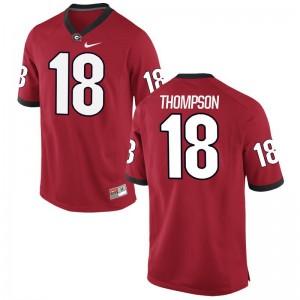 Trenton Thompson Georgia College Men Game Jerseys - Red