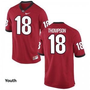 Trenton Thompson Georgia Official For Kids Limited Jerseys - Red