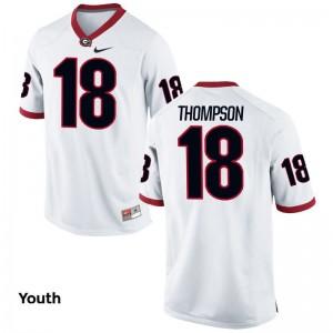 Trenton Thompson University of Georgia High School For Kids Limited Jerseys - White