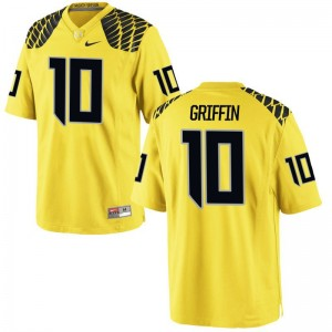 Ty Griffin Oregon Ducks Official Mens Game Jerseys - Gold