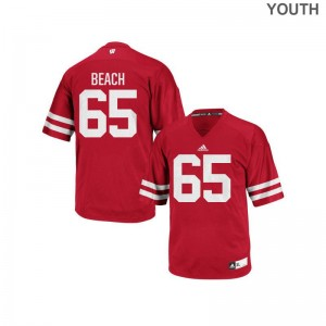 Tyler Beach Wisconsin University Youth Authentic Jerseys - Red