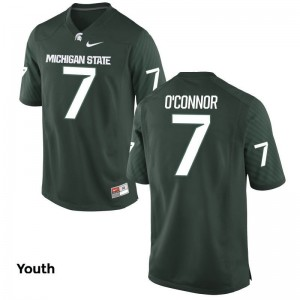Tyler O'Connor Michigan State Spartans Football For Kids Game Jersey - Green