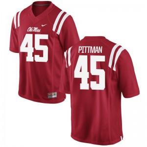 Tyler Pittman University of Mississippi High School Men Limited Jerseys - Red