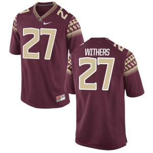 Tyriq Withers Florida State Seminoles College Mens Game Jerseys - Garnet