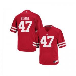 Vince Biegel UW NCAA Men Authentic Jersey - Red