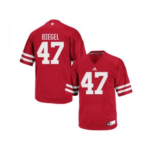 Vince Biegel Wisconsin Badgers Official Youth(Kids) Authentic Jersey - Red