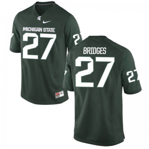 Weston Bridges Michigan State University Player For Men Game Jersey - Green