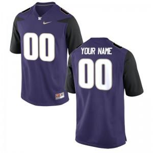 UW Huskies NCAA Kids Limited Customized Jersey - Purple