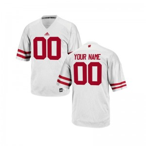 Wisconsin Official Youth Limited Customized Jerseys - White